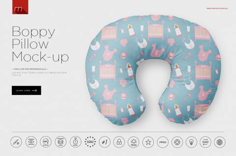Boppy Pillow Design Illustration