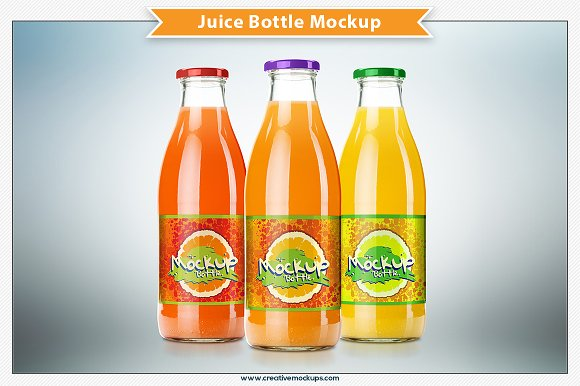 Bottle of Juice PSD Design Style trend
