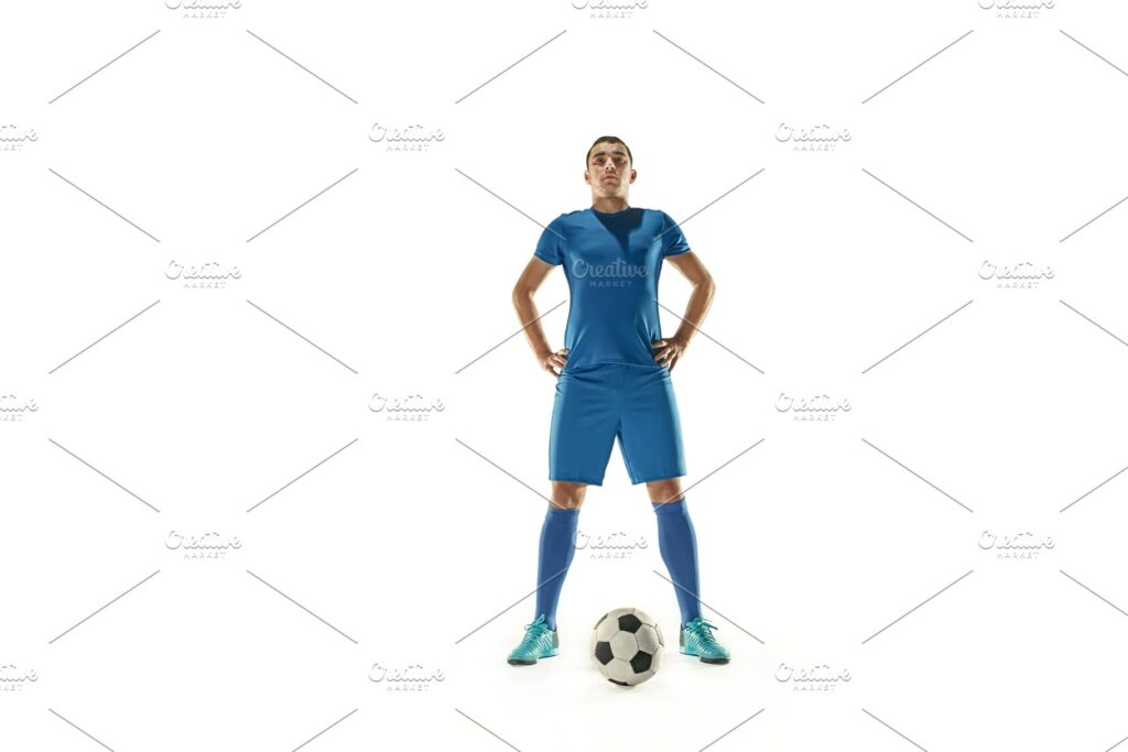 Boy With Blue Color soccer Team Costume