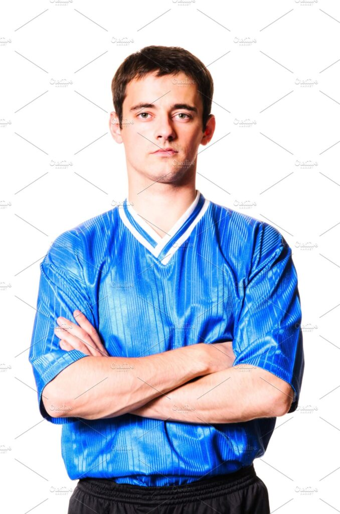 Boy With Blue Shinny Jersey Illustration In PSD Format