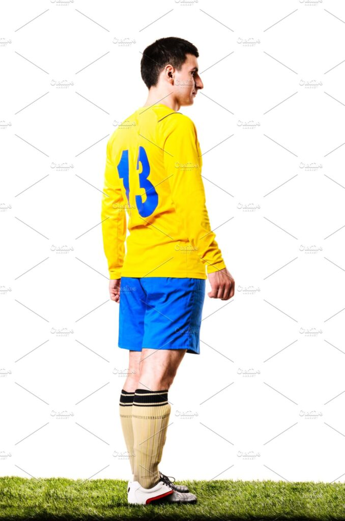 Boy With Full Sleeves Yellow Sports Costume