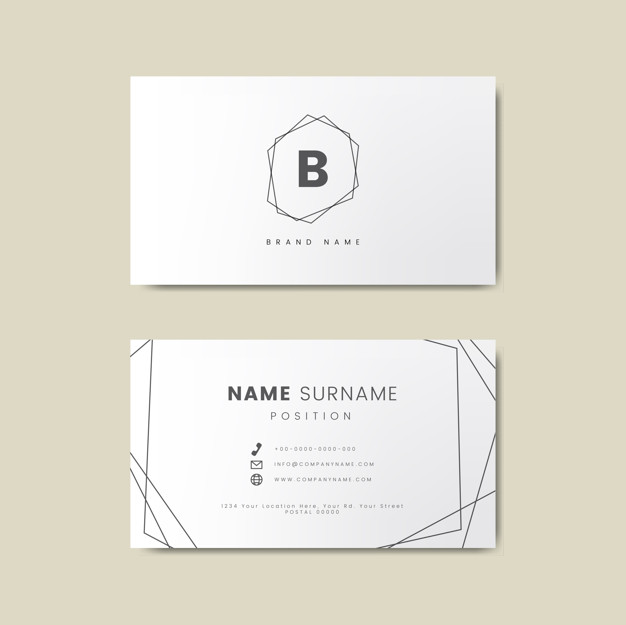 Brand Name Section Present Letterpress Business Card