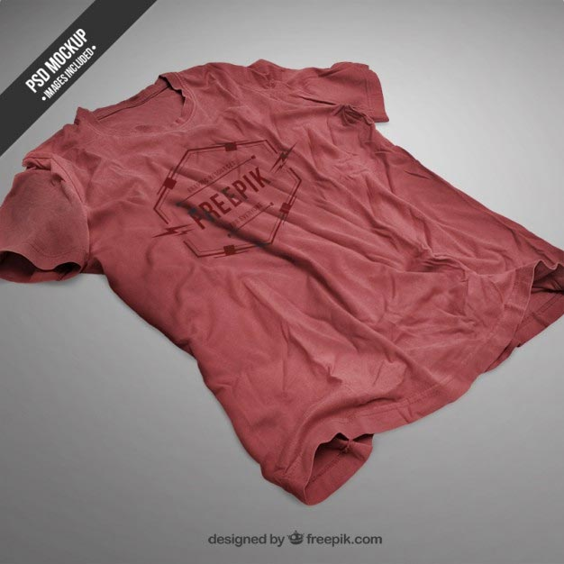 Brown Color t-shirts Mockup PSD
