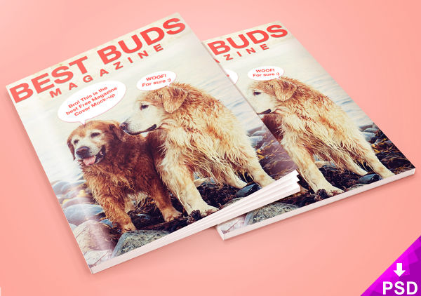 Buds Magazine Cover PSD Template