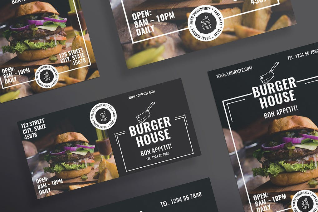 Burger Restaurant Flyer and Poster Template