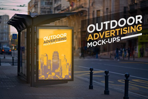 Bus Stand Outdoor Advertising Design template