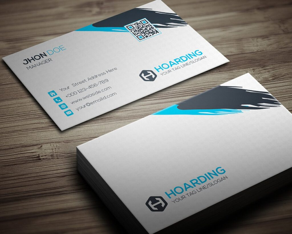 Business Card Hoarding Mockup.