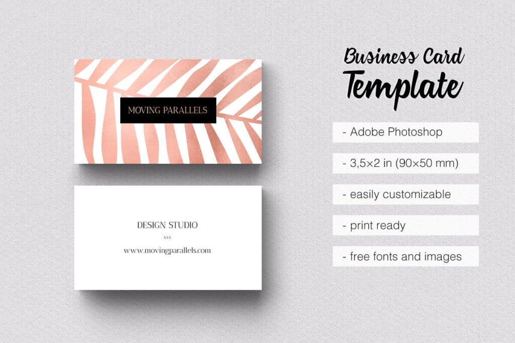 Business Card Template PSD File Format