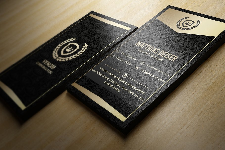 Business General Manager Business Card Mockup