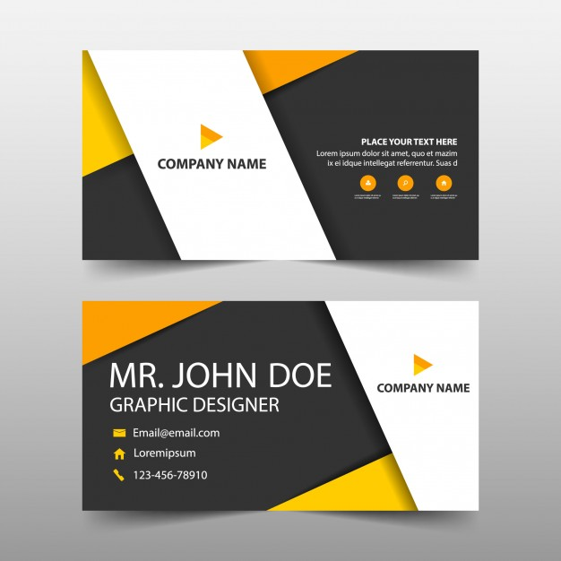 Business Name Card Vector File Illustration