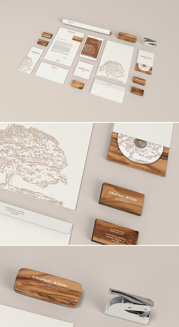 CD Cover and Identity Mockup PSD