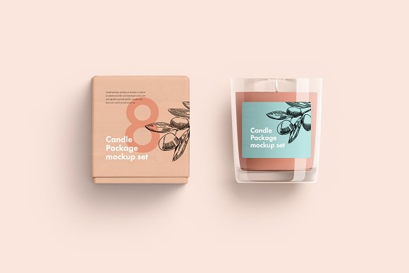 Candle Packaging Box Mockup