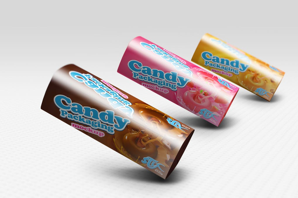 Candy Packaging Wrapper Mockup