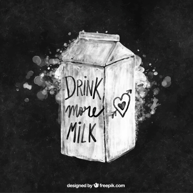 Chalk Painted Tetra Box Style Milk Carton Vector File