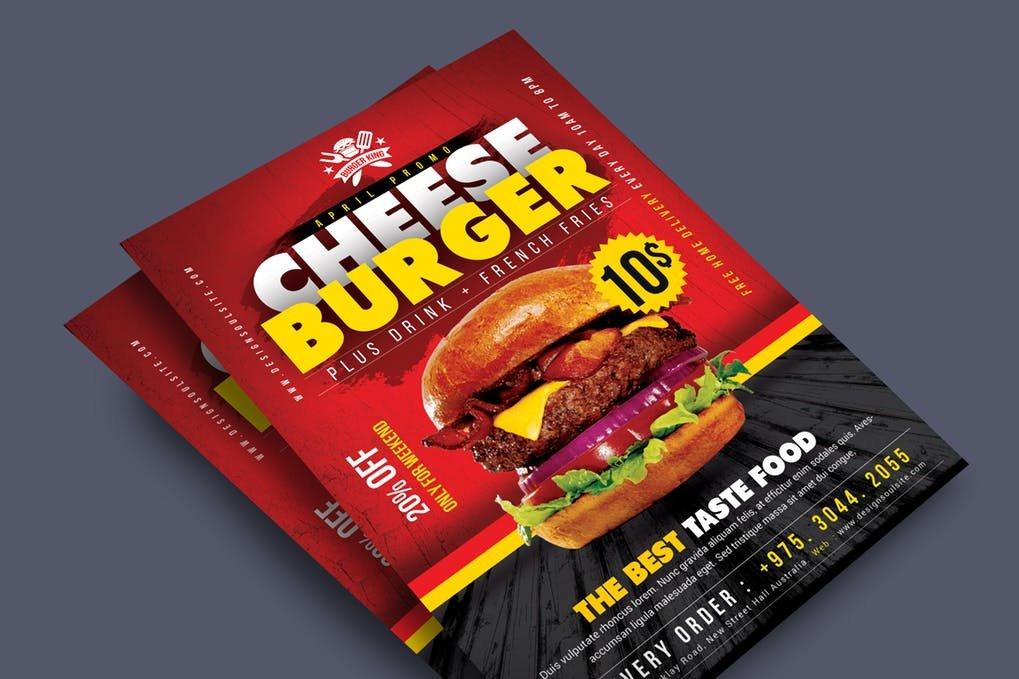 Cheese Burger Festival Flyer Design