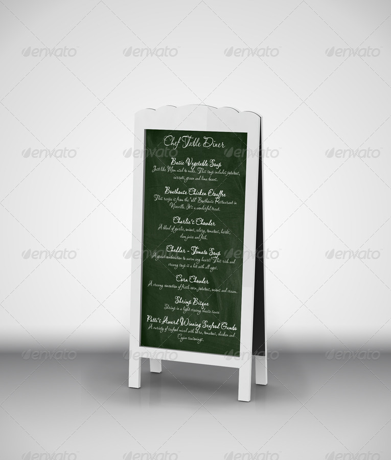 Chef Menu Chalkboards Mock-Up