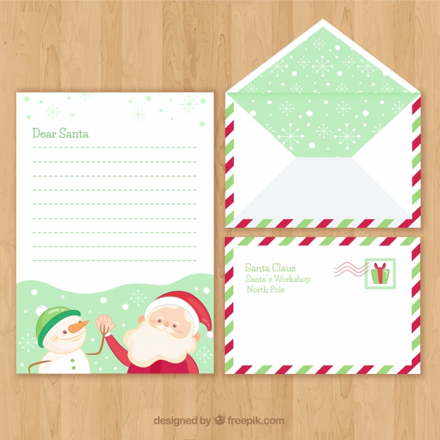 Christmas Card And Envelope On Wooden Table Mockup