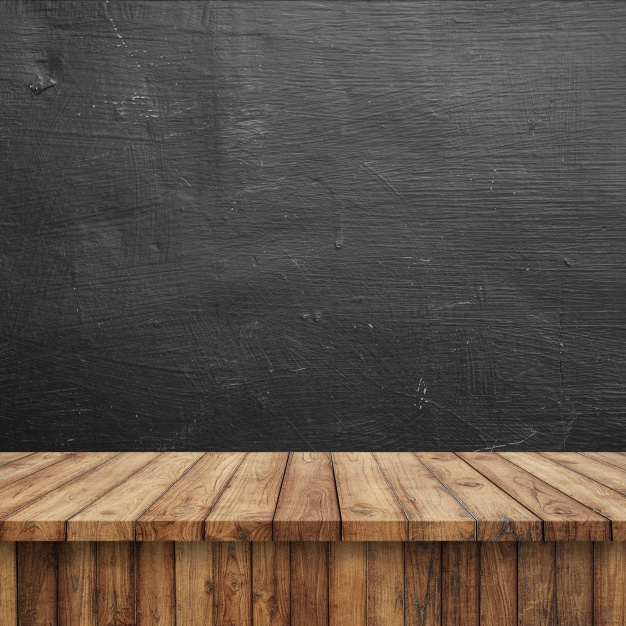 Clean Wooden Table Illustration