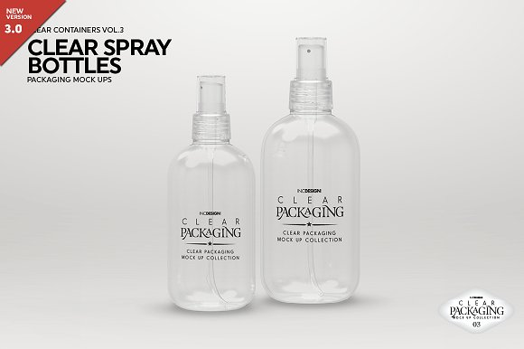 Clear Spray Bottle Design Mockup