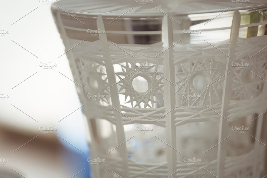 Close Up View of Glass Showpiece Design Template