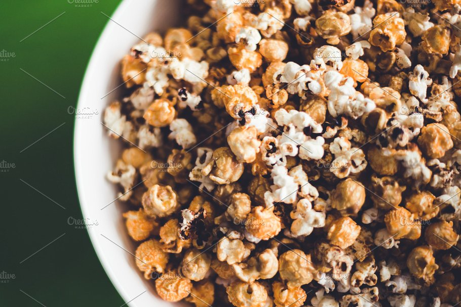 Close View of popcorn PSD Design
