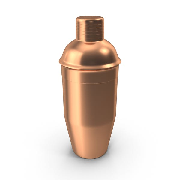 Cocktail Shaker Made Of Copper Mockup PSD.