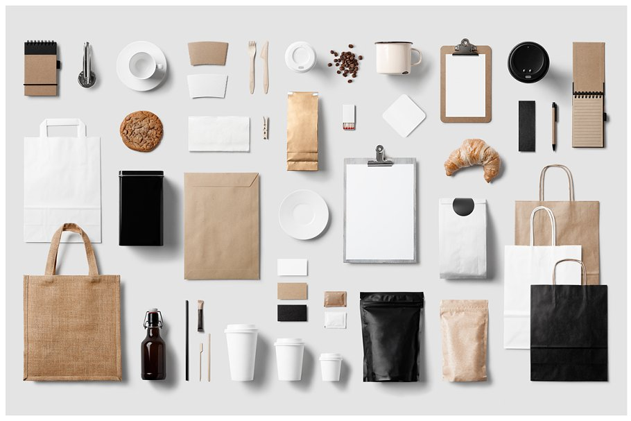 Coffee Mockup With All Coffee Making Elements