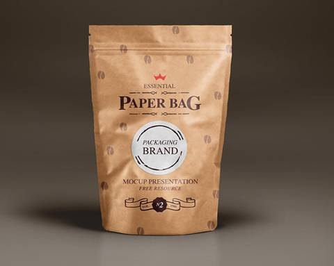 Coffee Packaging Paper Bag Mockup