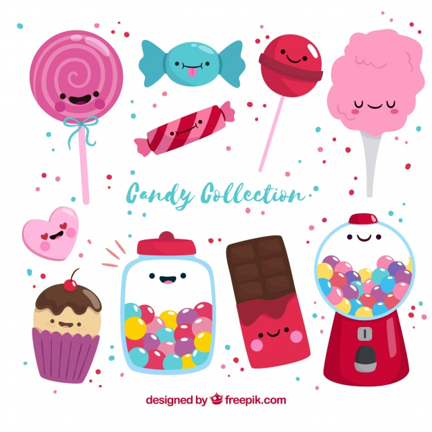 Colorful Candies Vector: