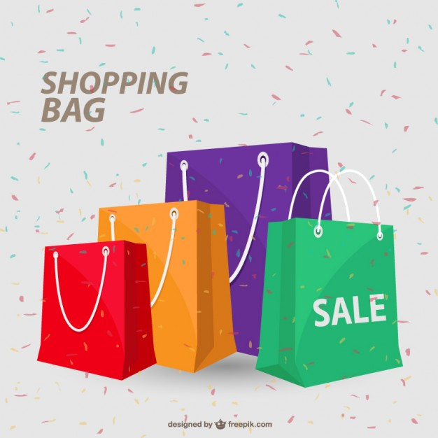 Colorful Shopping Bag Vector Design