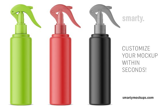 Colorful Spray bottle Template in Vector