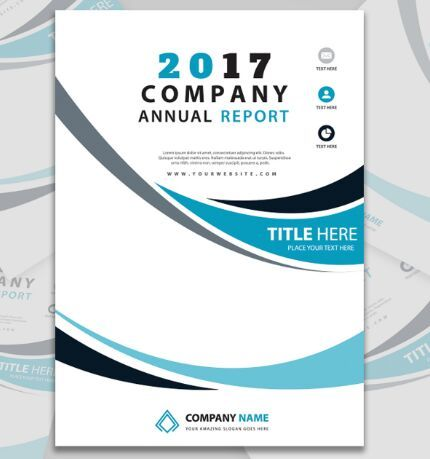 Company Report A4 Paper PSD Template