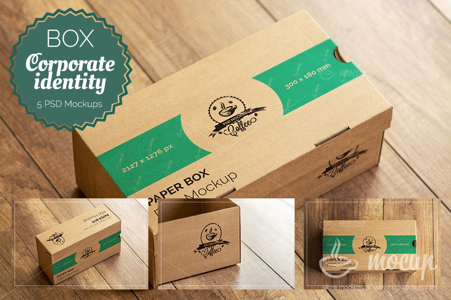 Corporate Craft Box Mockup