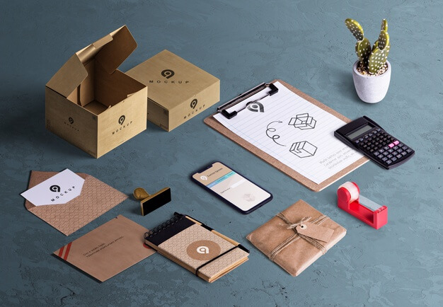 Corporate Theme Envelope And Stationery Mockup