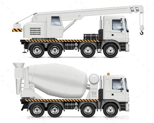 Crane and Mixer Trucks