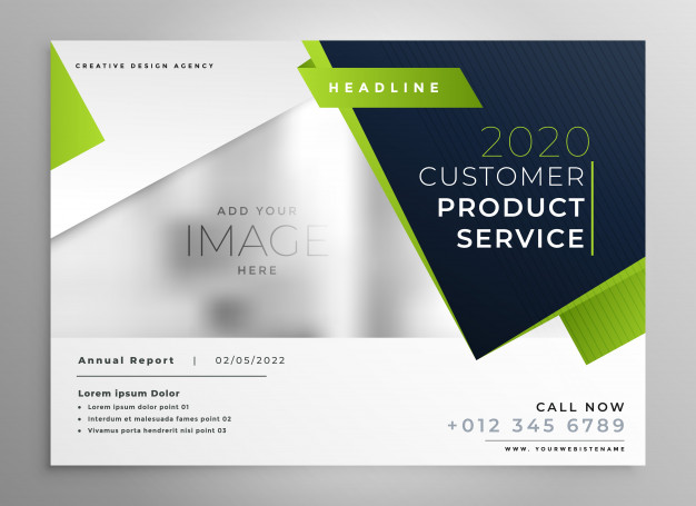 Creative Design Customer Product Service A4 Flyer Vector File