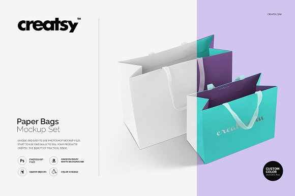 Creatsy Paper Gift Bag PSD Template