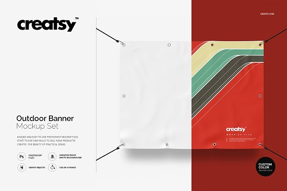 Creatsy Stylish Outdoor Banner Mockup Set