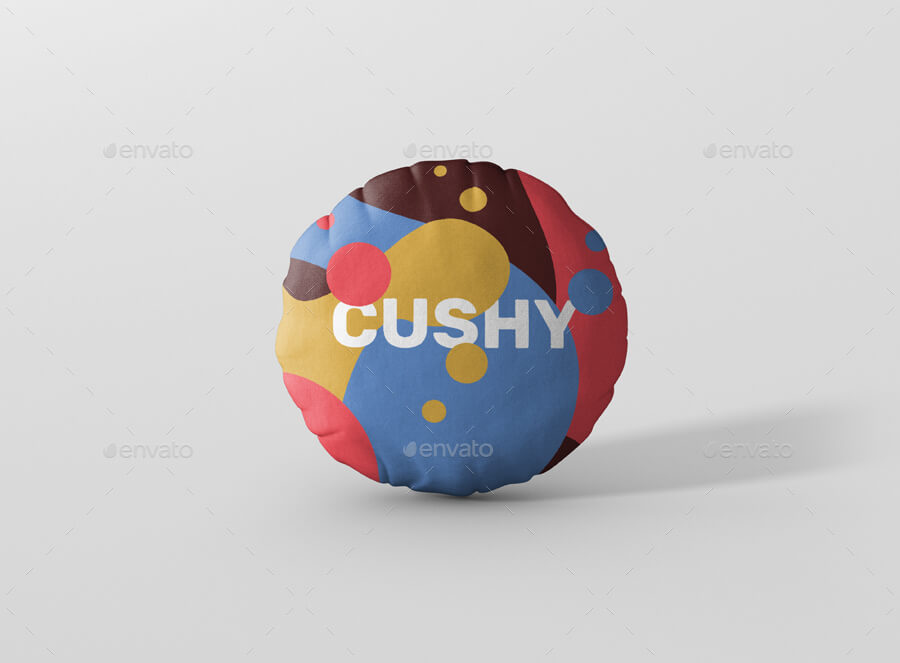 Cushy Round Pillow Mockup PSD