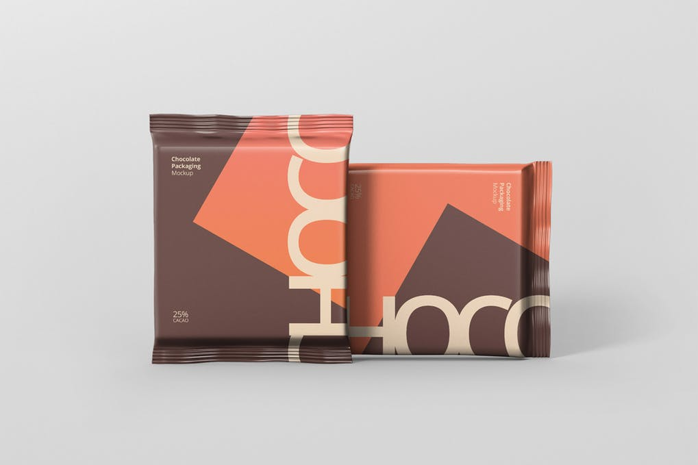 Custom Color Chocolate Packaging Box Mockup