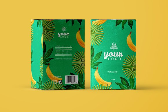 Customizable Cereal Box packaging Mockup template