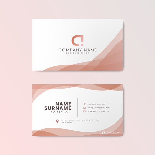 Customizable White And Pink Letterpress Business Card