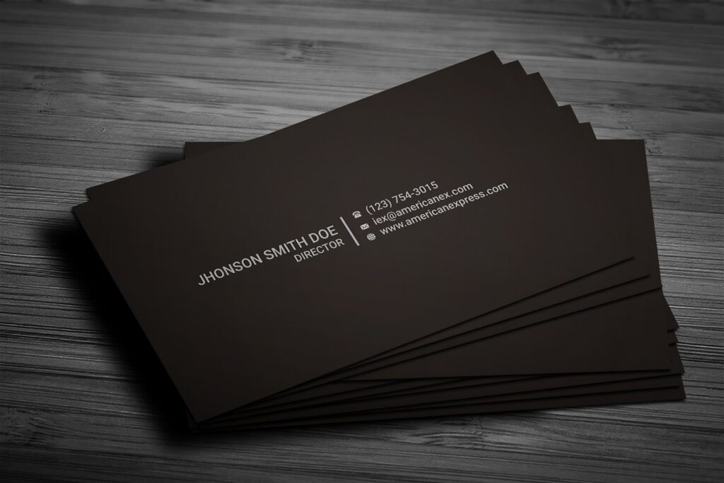 Dark Brown Color Business Card Mockup
