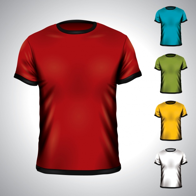 Dark Shaded Multi Color T-shirts Vector Format