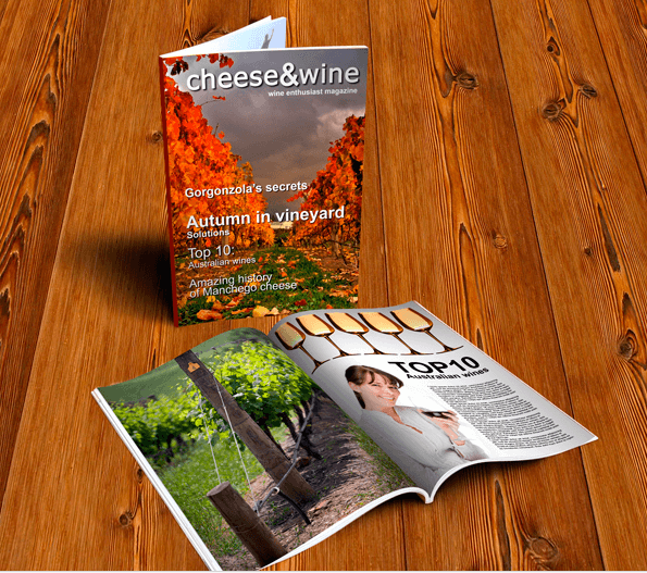 Dazzling Magazine Mockup on A Wooden Table