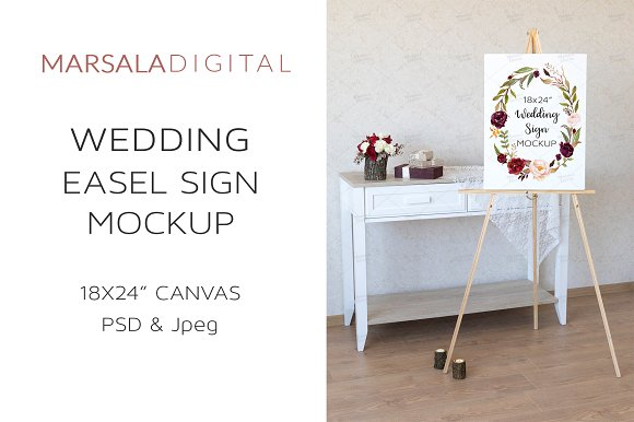 Decorated Easel Mockup