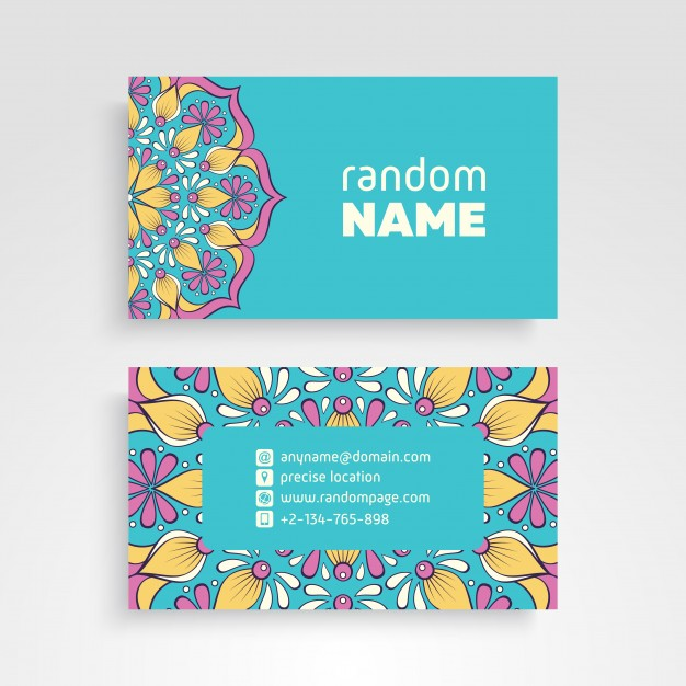 Decorative Name Card Vector File