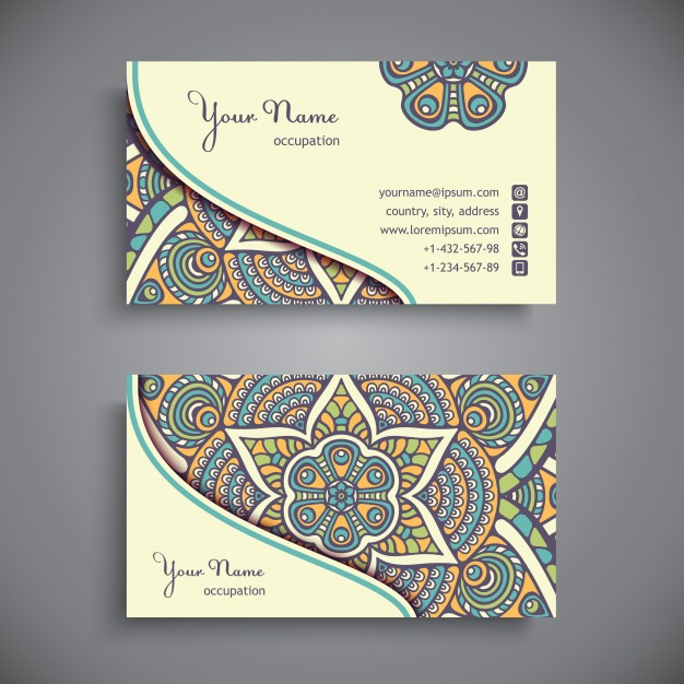Decorative Name Card Vector Format Image