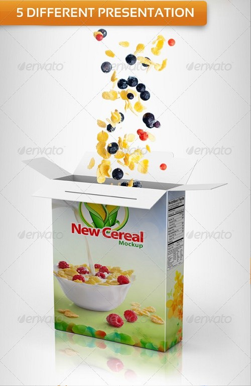 Diet Food Cereal Box PSD