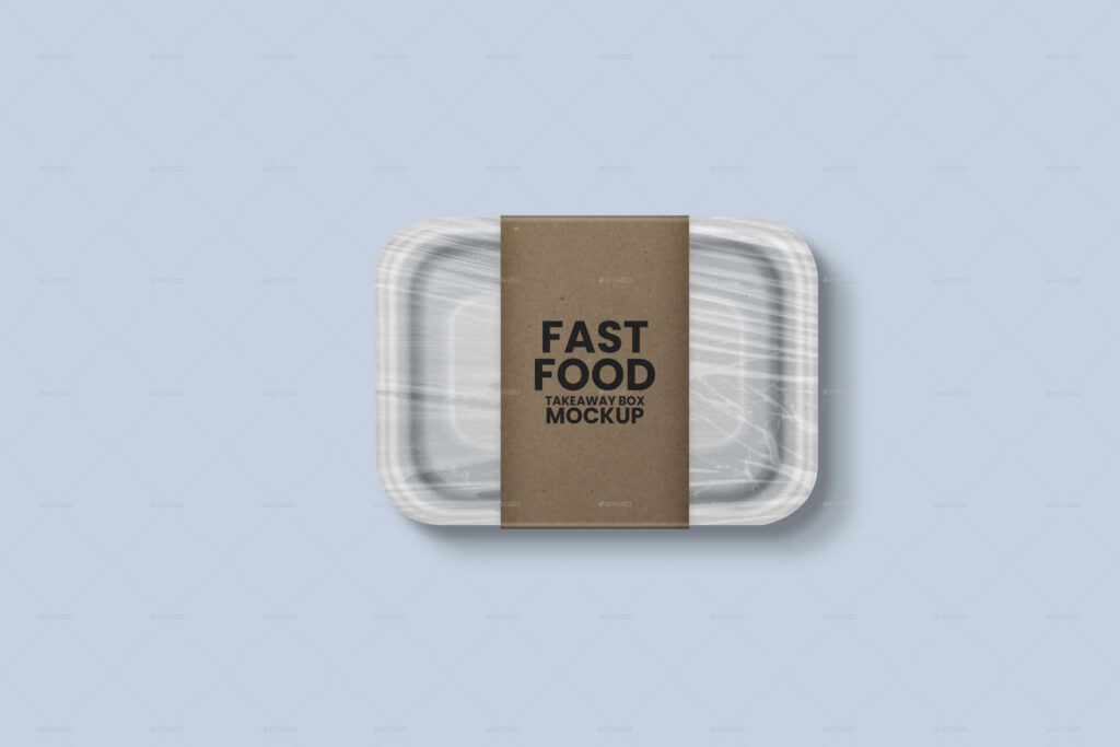 Disposable Food Box Mockup